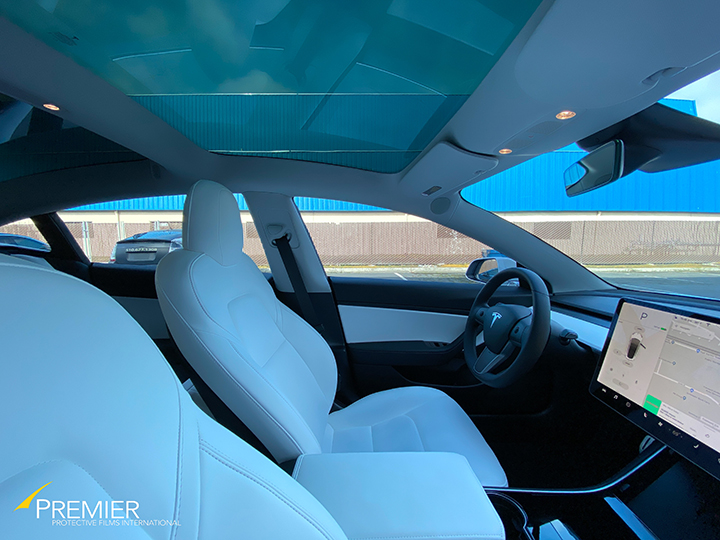 Tesla Model 3 Tint (Photosync) as seen from the inside.
